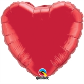 """Ruby Red 36"""" Heart Foil Balloon"""