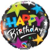 "18"" Happy Birthday Shooting Stars Foil Balloon"