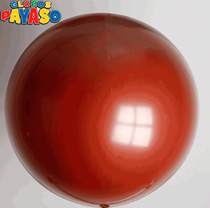 "Globos Burgundy 2ft (24"") Latex Balloons 10pk"