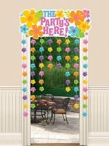 Luau Party Door Curtain