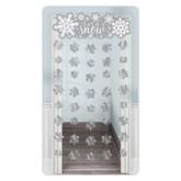 Christmas Silver Snowflake Door Curtain