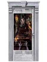 Halloween Haunted House Stairway Door Banner