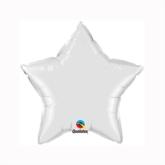 "White 9"" Star Foil Balloon"