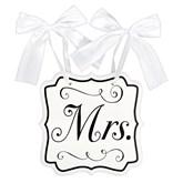 Wedding MDF Chair Sign Mrs
