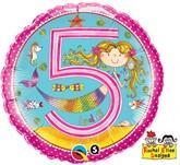 "Rachel Ellen 18"" 5th Birthday Mermaid Balloon"