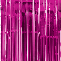 Bright Pink Foil Door Curtain Decoration 2.4M