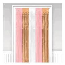 Rose Gold Blush Foil Door Curtain Decoration