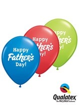 Happy Father's Day Coloured Latex Balloons 50pk