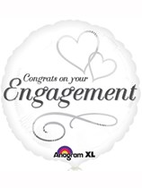 """Congrats on Your Engagement 18"""" Foil Balloon"""