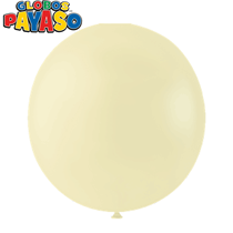 """Macaroon Vanilla 24"""" Latex Balloons 10pk"""