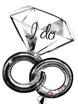 "I Do Wedding Rings 30"" Supershape Balloon"
