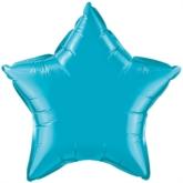 "Turquoise 20"" Star Foil Balloon"