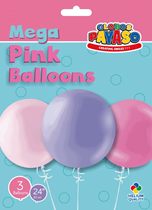 """Pink & Lilac 2ft (24"""") Latex Balloon Pack 3pk"""