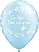 "Pearl Light Blue Communion 11"" Latex Balloons 25pk"