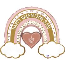 "Valentine Grabo 40"" Rose Gold Rainbow Foil Balloon"