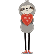 Valentine Grabo 5ft Special Delivery Sloth Foil Balloon