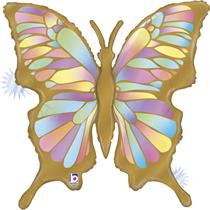 """Opal Butterfly 33"""" Large Foil Balloon"""