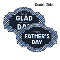 """Happy Father's Day 32"""" Double Sided Foil Balloon"""
