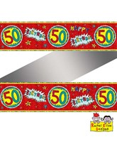 Rachel Ellen Red Age 50 Foil Banner
