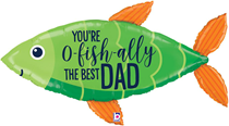 """Father's Day OFishally The Best 45"""" Foil Balloon"""