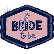 """Bride To Be 30"""" Holographic Foil Balloon"""
