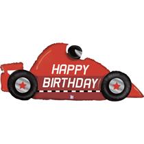 "Red Happy Birthday Racing Car 56"" Foil Balloon"