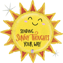 """Sunny Thoughts 30"""" Glitter Holographic Foil Balloon"""