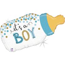 """It's A Boy Baby Bottle 33"""" Foil Balloon"""