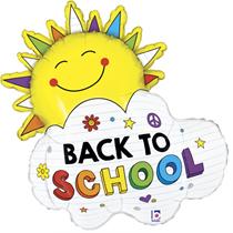 "Back To School 31"" Sunshine Foil Balloon"