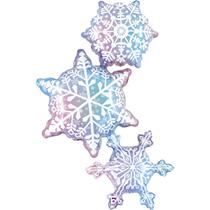 """Snowflake Trio Strack 50"""" Foil Balloon"""