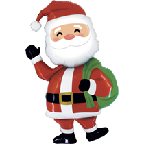 Special Delivery Santa 5ft Foil Balloon