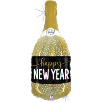 """Happy New Year Champagne Holographic 36"""" Foil Balloon"""