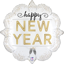 "Metallic Happy New Year 31"" Foil Balloon"