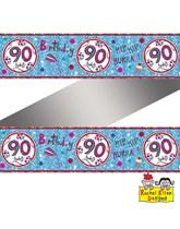 Rachel Ellen Blue Age 90 Foil Banner