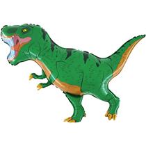 """Green T-Rex Dinosaur 40"""" Foil Balloon"""