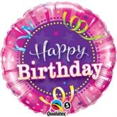 "Happy Birthday Hot Pink 18"" Foil Balloon"