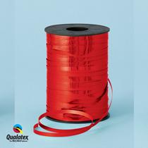 Red Metallic Foil Curling Balloon Ribbon Qualatex