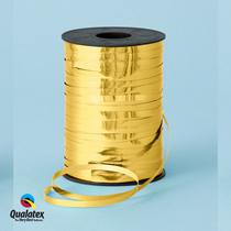 Gold Metallic Foil Curling Balloon Ribbon Qualatex