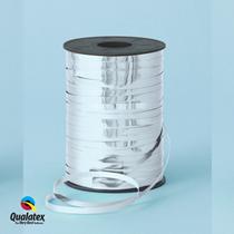 Silver Metallic Foil Curling Balloon Ribbon Qualatex