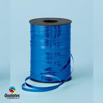 Blue Metallic Foil Curling Balloon Ribbon Qualatex