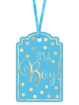 It's a Boy Baby Shower Blue Paper Gift Tags 25pk