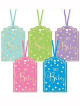 Assorted Baby Shower Paper Gift Tags 25pk
