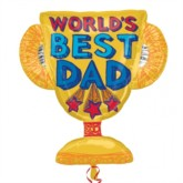 """Father's Day SuperShape Trophy 27"""" Foil Balloon"""
