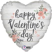 "Valentine Grabo 18"" Rustic Heart Foil Balloon"