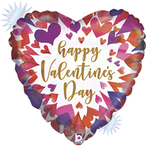 "Valentine Grabo 18"" Opal Ombre Heart Foil Balloon"