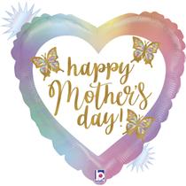 "Happy Mother's Day Opal 18"" Heart Foil Balloon"