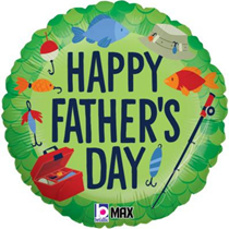 """Happy Father's Day Fishing 18"""" Foil Balloon"""