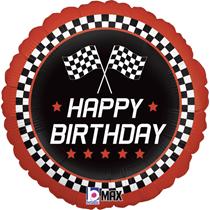 "Happy Birthday Racer 18"" Foil Balloon"