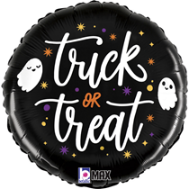 """Halloween Trick or Treat Ghosts 18"""" Foil Balloon"""