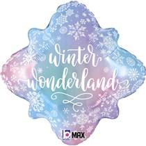 "Snowflake Winter Wonderland 18"" Foil Balloon"